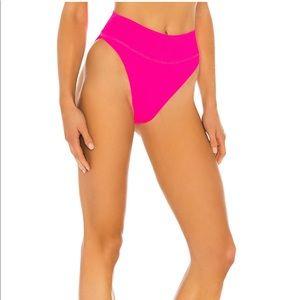 Beach Riot Highway Bikini Bottom Hot Pink Large